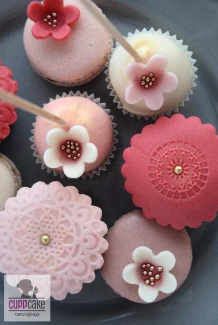 Cupcake csipkézett borítással