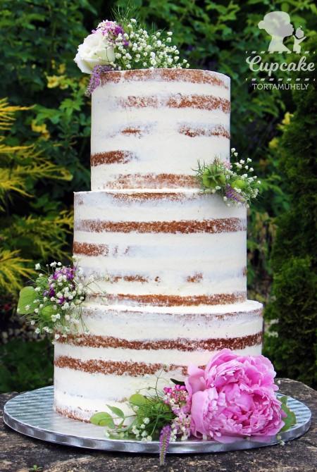 Naked Cake - bazsarózsával