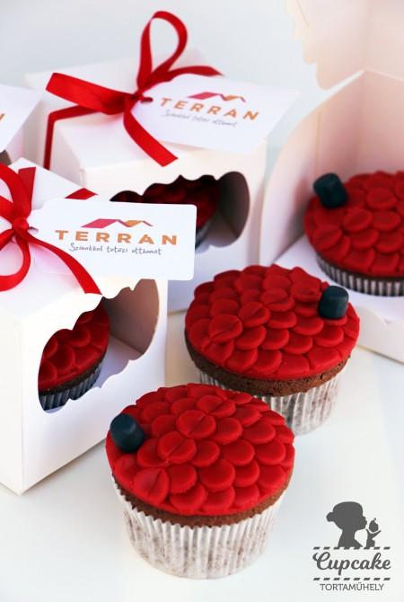 Egyedi Terran cupcake céges eseményre