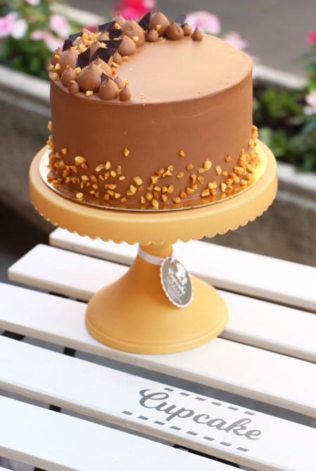 Belga csoki torta - mogyoró szórással