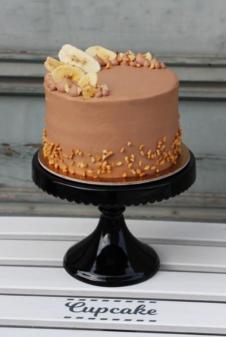 Banános - nutella torta