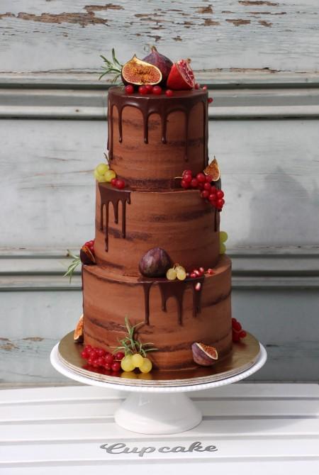 Naked cake - Őszi