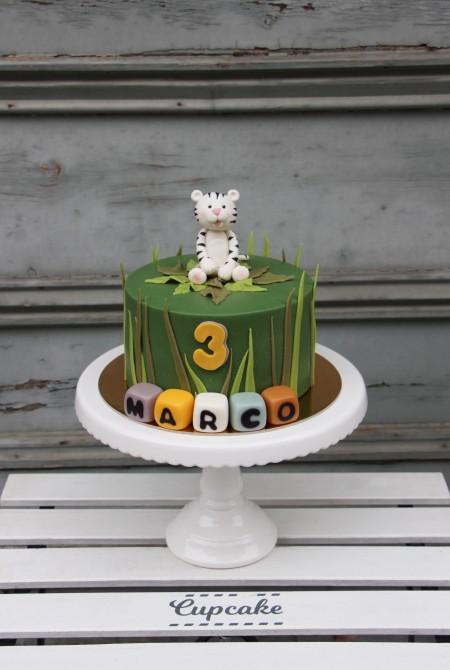 Fehér tigris torta