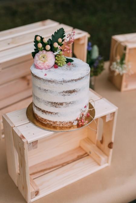 Naked cake - tavaszi