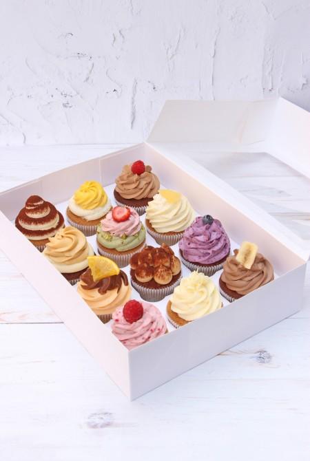 12-es cupcake válogatás díszdobozban 10 480 Ft