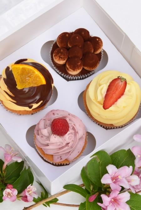 4-es cupcake válogatás díszdobozban 3 660 Ft