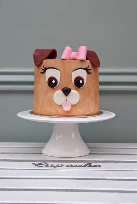 Kutya torta - fehércsokiborítással
