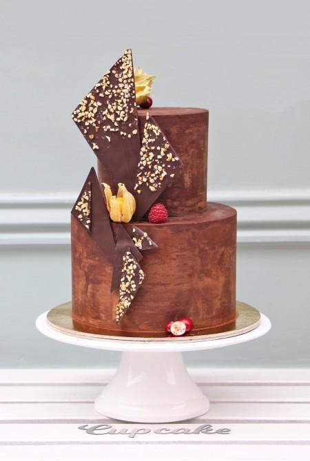 Csokikabátos torta - mogyorós csokivitorlákkal