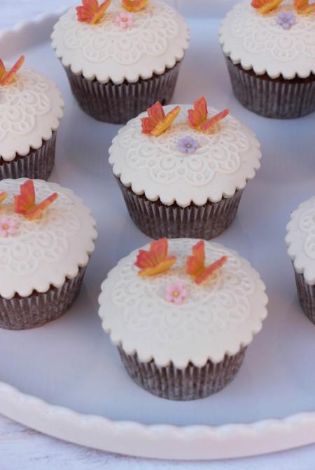 Dekor Cupcake - pillangós