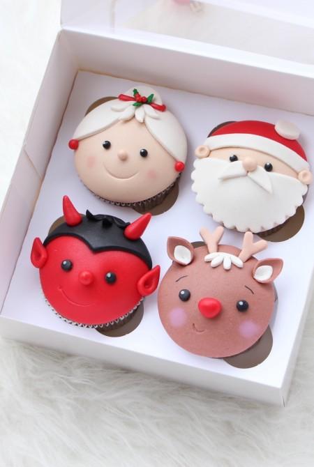 Mikulás cupcake 4 BOX