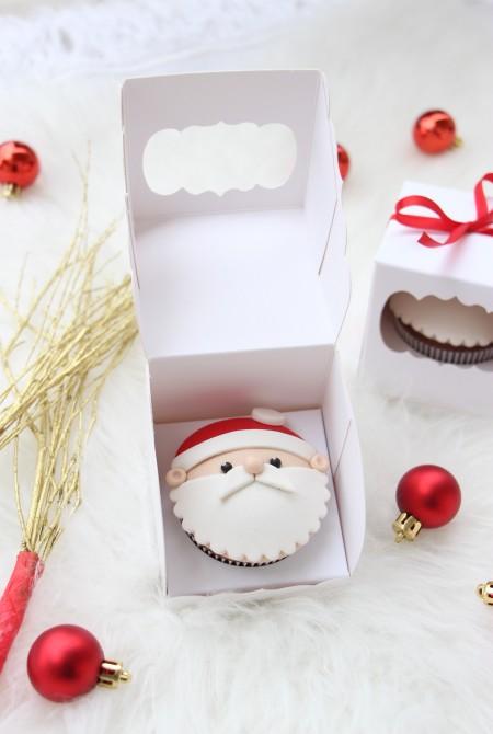 Mikulás cupcake 1 BOX