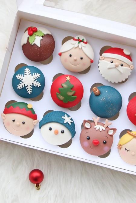 Karácsonyi cupcake 12 BOX