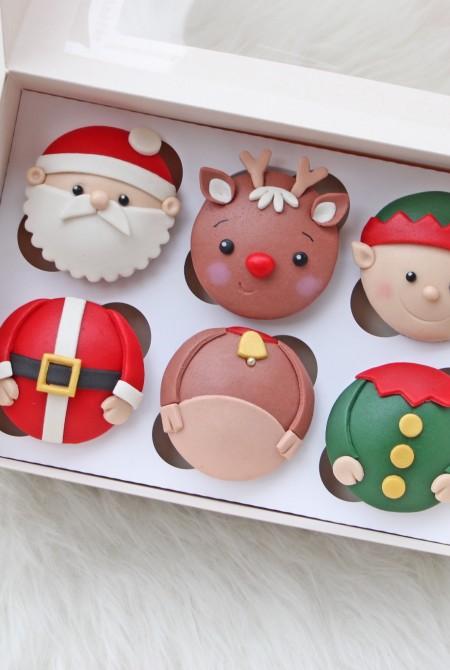 Karácsonyi cupcake 6 BOX