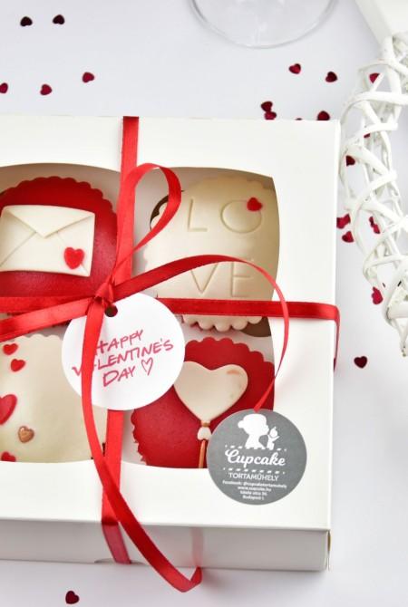 Valentin cupcake 4 BOX