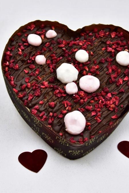 Szív alakú VEGÁN brownie 350g